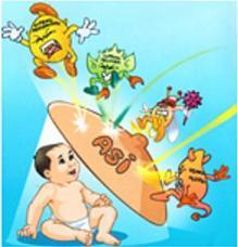 Gambar 1. ASI mengurangi kesakitan dan kematian bayi